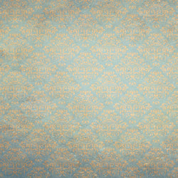 Damask Photo Backdrop - Vintage Aqua