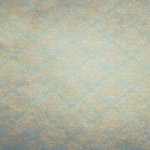 Damask Backdrop Vintage Aqua