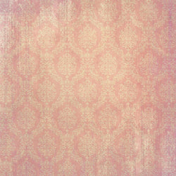 Damask Photo Backdrop Vintage - Pink and White