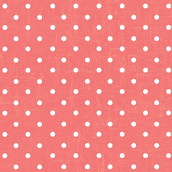 Polka Dot Backdrop Vintage Coral Wallpaper
