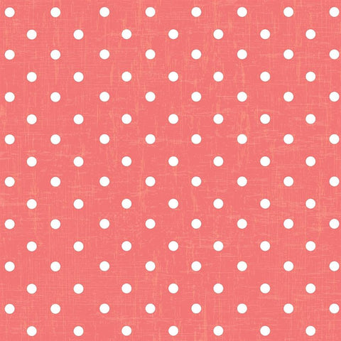 Polka Dot Photo Backdrop - Vintage Coral Wallpaper