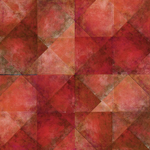 Geometric Photo Backdrop - Red Diagonal Squares Backdrops SoSo Creative