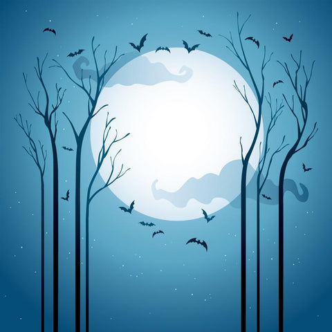 Halloween Backdrop Blue Moon