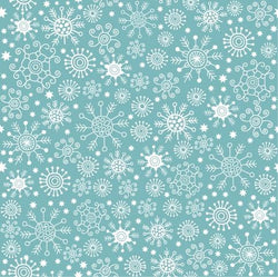 Holiday Backdrop Blue Snowflake