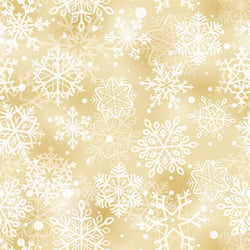 Holiday Backdrop Gold Snowflakes