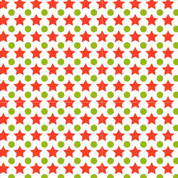 Holiday Photo Backdrop - Green and Red Stars