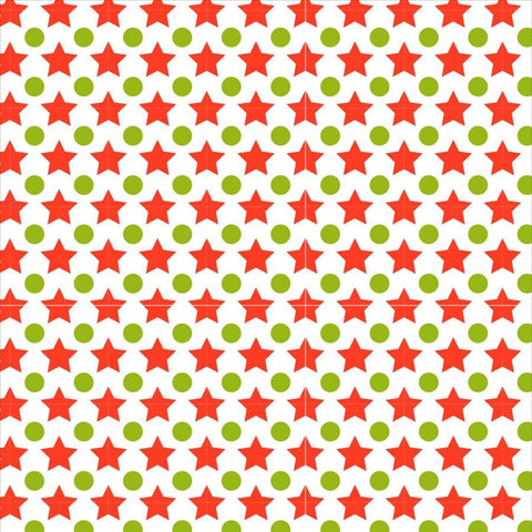 Holiday Backdrop Green and Red Stars