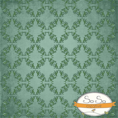 Holiday Backdrop Green Wreath Pattern