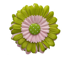 Delightful Gerber Daisy Hair Clip Daisy Clips SoSo Creative Pink with Green Button
