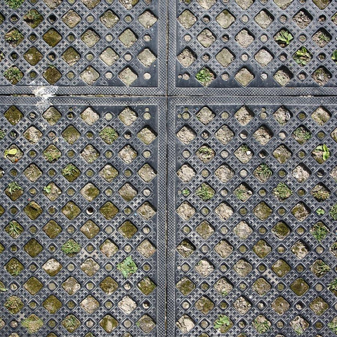 Metal Photography Backdrop - Mossy Grate