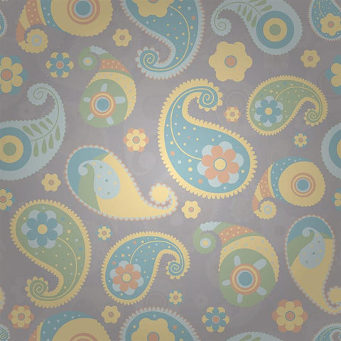 Paisley Photo Backdrop - Faded Yellow