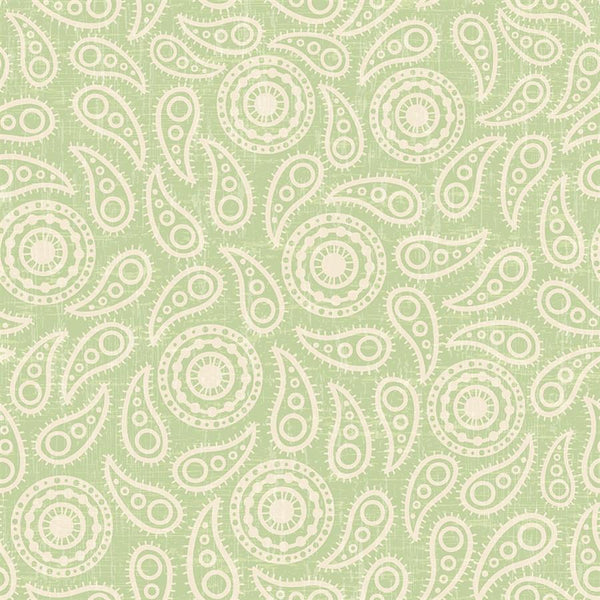 Paisley Photo Backdrop - Vintage Green