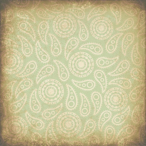 Paisley Photo Backdrop - Vintage Green Grunge