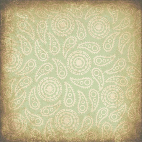 Paisley Backdrop Vintage Green Grunge
