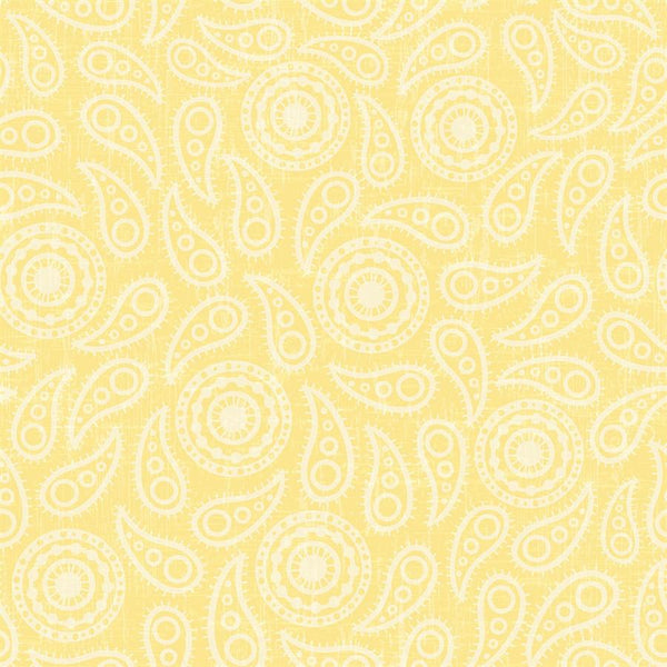 Paisley Photo Backdrop - Vintage Yellow