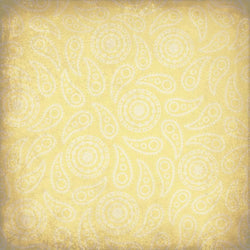 Paisley Backdrop Vintage Yellow Grunge