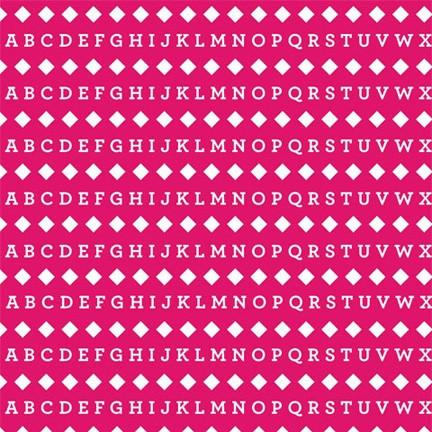 Pattern Photo Backdrop - Alphabet Hot Pink