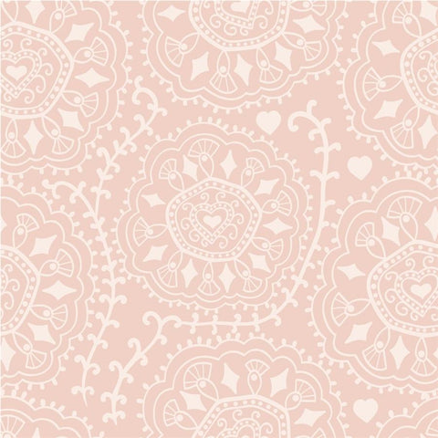 Pattern Photo Backdrop - Diamond Swirl Dusty Peach