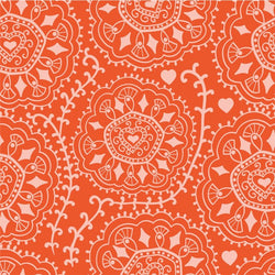 Pattern Photo Backdrop - Diamond Swirl Persimmon