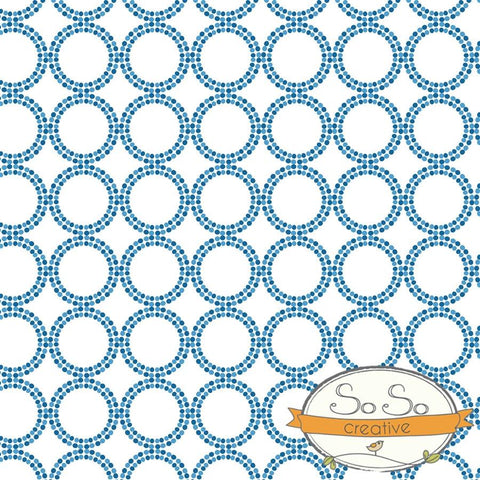 Pattern Photo Backdrop - Dots and Circles Blues Backdrops SoSo Creative