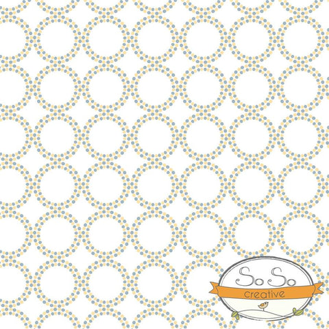 Pattern Photo Backdrop - Dots and Circles Yellow and Gray Backdrops SoSo Creative
