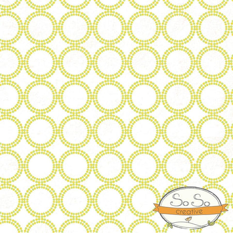 Pattern Photo Backdrop - Dots and Circles Yellow and Green