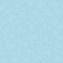 Pattern Photo Backdrop - Dotted Flower Blue and White Backdrops SoSo Creative