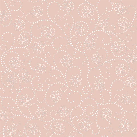 Pattern Photo Backdrop - Dotted Flower Dusty Peach