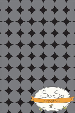 Pattern Photo Backdrop - Gray & Black Dots Backdrops SoSo Creative