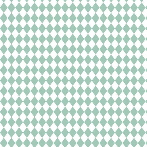 Pattern Backdrop Green Diamonds