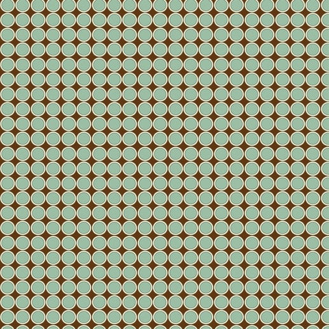 Pattern Backdrop In-line Circles Brown & Teal