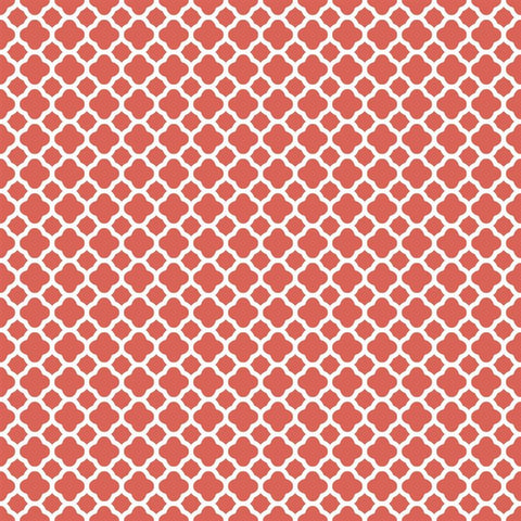 Pattern Backdrop Lattice in Coral