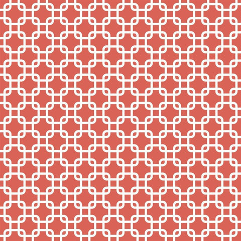 Pattern Backdrop Links in Coral