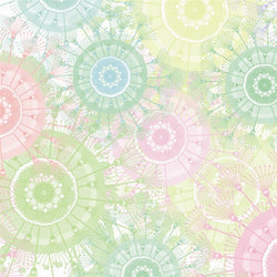 Pattern Photo Backdrop - Pastel Dandelions Backdrops SoSo Creative