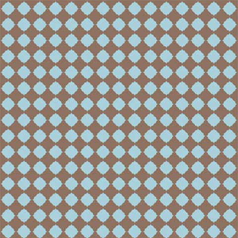 Pattern Photo Backdrop - Quatrefoil in Blue & Brown