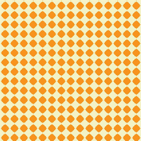 Pattern Backdrop Quatrefoil in Creamsicle