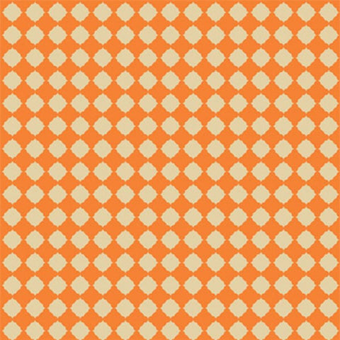 Pattern Photo Backdrop - Quatrefoil in Orange Backdrops SoSo Creative