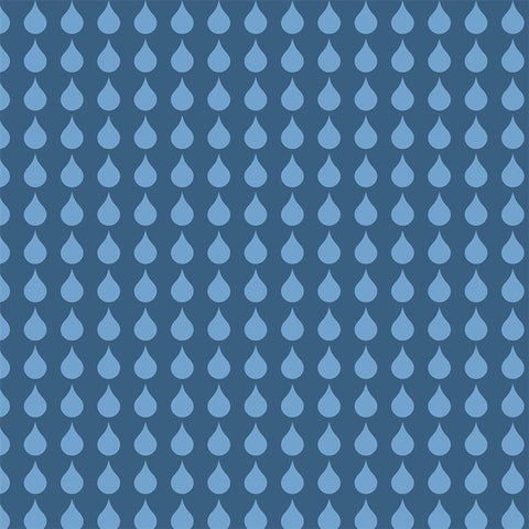 Pattern Photo Backdrop - Rainy Blues Contrast