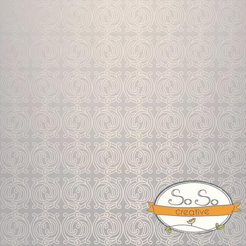 Pattern Photo Backdrop - Silver Silk Wallpaper Backdrops SoSo Creative