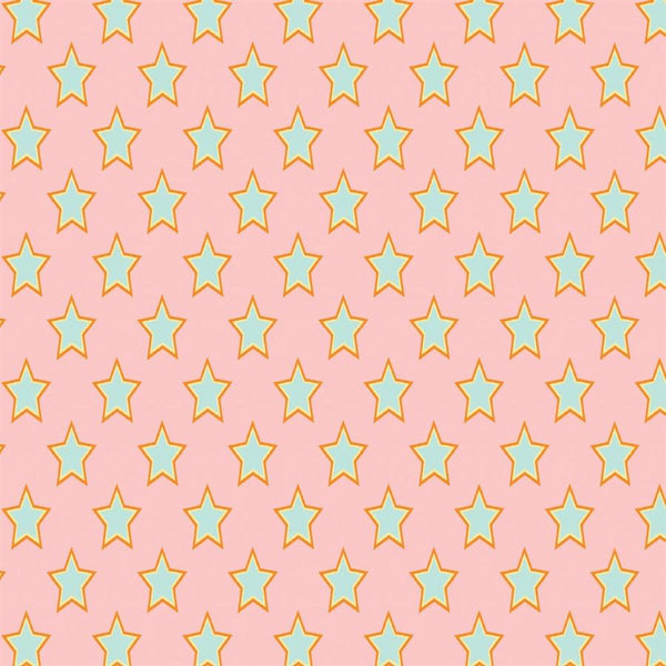 Pattern Photo Backdrop Superstars - Pink & Green Super Size
