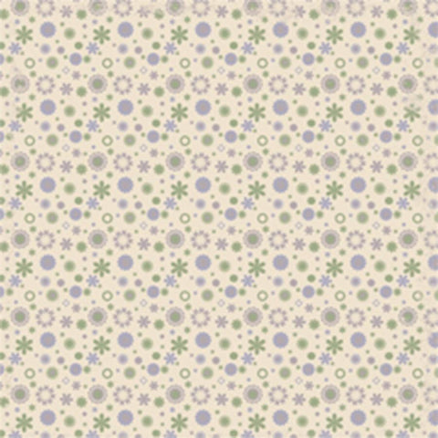 Pattern Backdrop Wild Floral Purple and Green