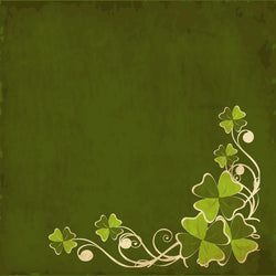 St. Patrick's Day Backdrop Flourish Grunge