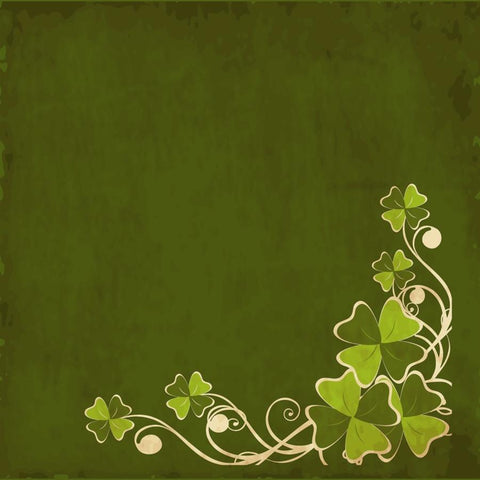 St. Patrick's Day Photo Backdrop - Flourish Grunge