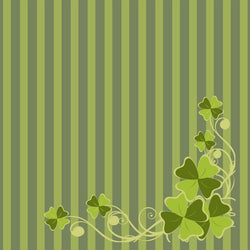 St. Patrick's Day Backdrop Flourish Striped
