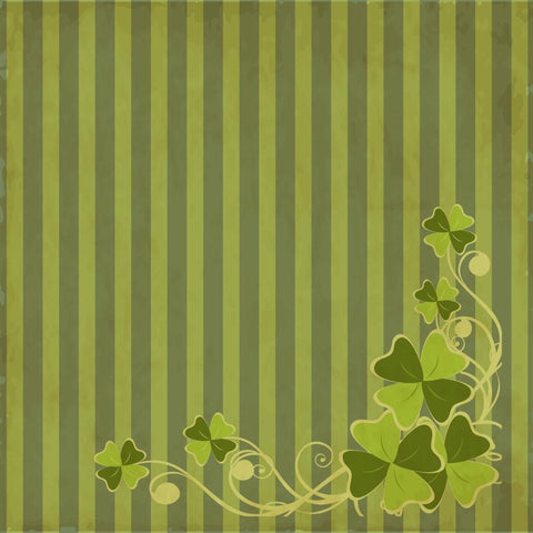 St. Patrick's Day Photo Backdrop - Flourish Dark Striped Grunge