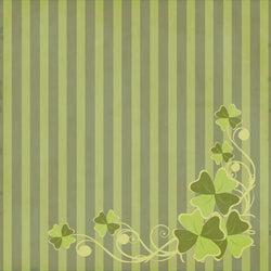 St. Patrick's Day Backdrop Flourish Light Striped Grunge