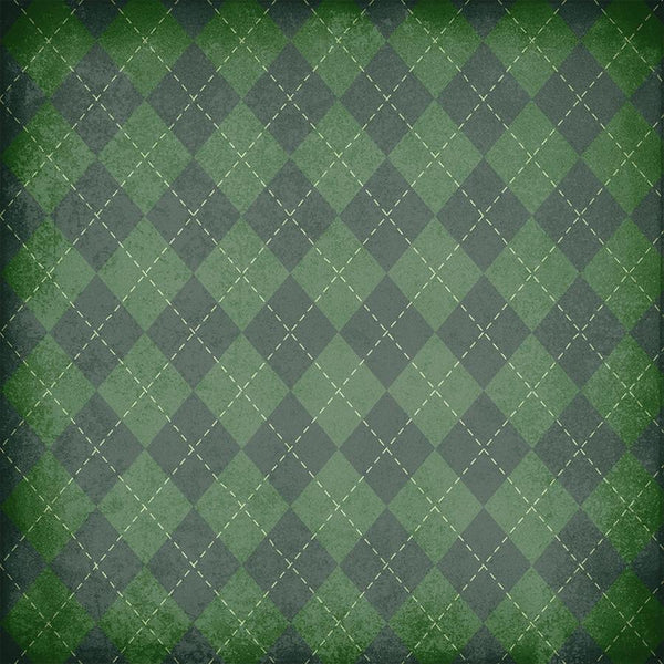 St. Patrick's Day Photo Backdrop - Plaid Grunge