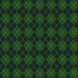 St. Patrick's Day Backdrop Plaid Dark