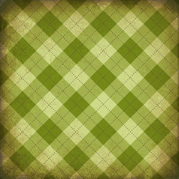 St. Patrick's Day Photo Backdrop - Plaid Light Grunge