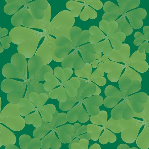 St. Patrick's Day Photo Backdrop - Shamrocks Muted